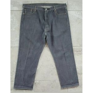 Levis 501 Original Straight Jeans Gray Wash Denim